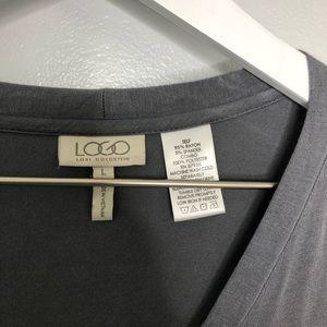 LOGO by Lori Goldstein Sweaters - LOGO by Lori Goldstein Gray Button Up Cardigan